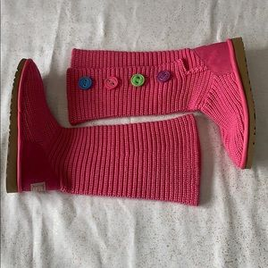 NWOT UGGS pink tall sweater boots
